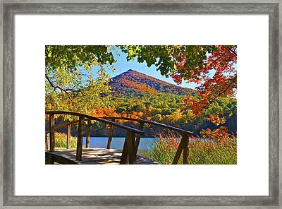 Peaks Of Otter Bridge Framed Print