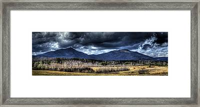 Peaks Of Otter Storm Clouds Framed Print
