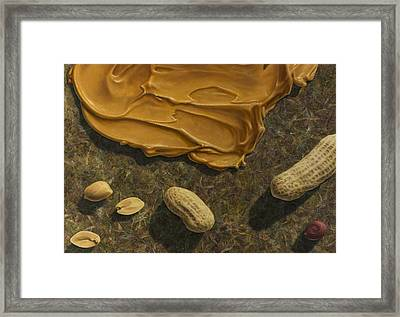 Peanut Butter And Peanuts Framed Print by James W Johnson