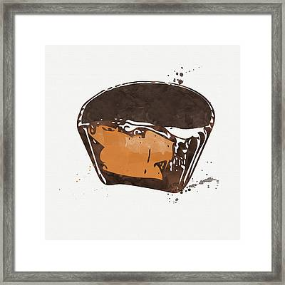 Peanut Butter Cup Framed Print by Linda Woods