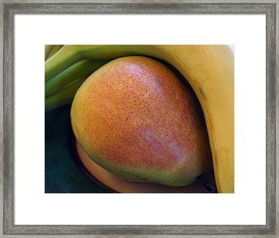 Framed Print featuring the digital art Pear And Banana by Jana Russon