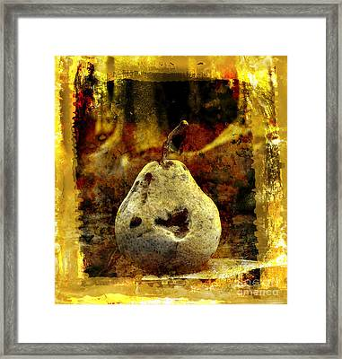 Pear Framed Print by Bernard Jaubert