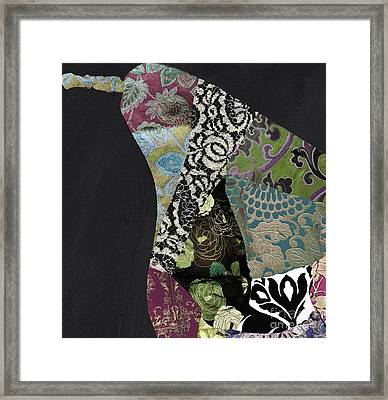 Pear Brocade II Framed Print by Mindy Sommers