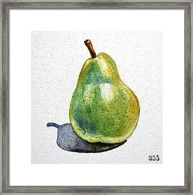 Pear Framed Print by Irina Sztukowski