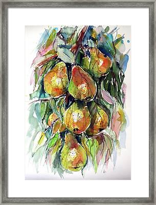 Framed Print featuring the painting Pear by Kovacs Anna Brigitta