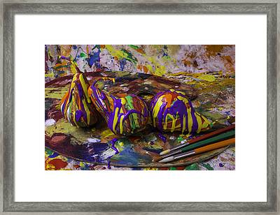 Pear Paint Still Life Framed Print