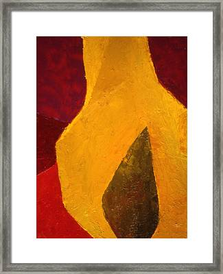 Pear Shaped Framed Print by Chris  Riley
