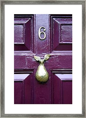 Pear Shaped Framed Print by Jez C Self