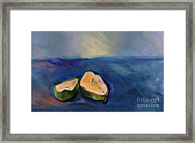 Pear Split Framed Print