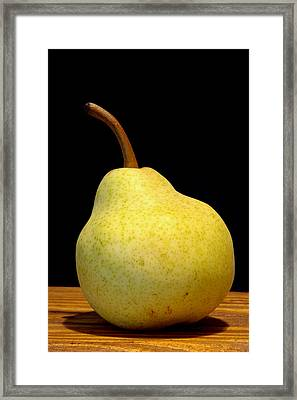 Pear Still Life Framed Print by Frank Tschakert
