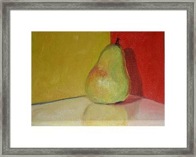 Pear Study Framed Print by Martha Layton Smith