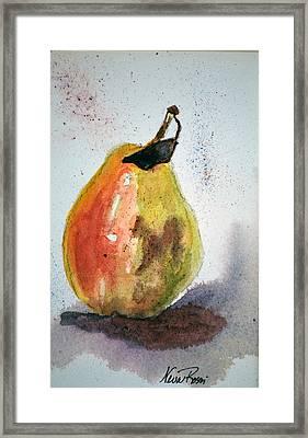 Pear Study Framed Print by Neva Rossi