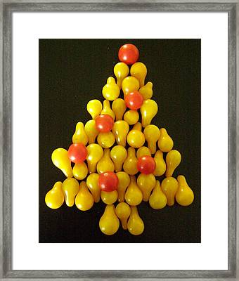 Pear Tomatoe Tree Framed Print by Jeanette Oberholtzer