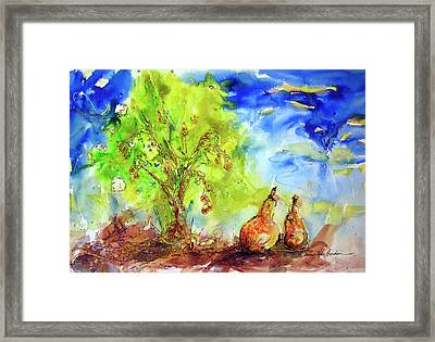 Pear Tree And Two Framed Print