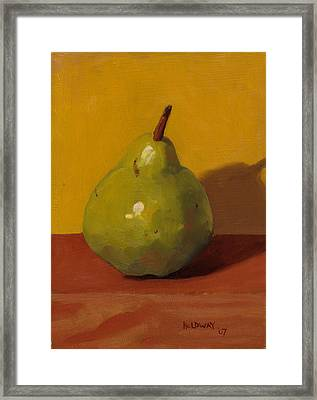 Pear With Yellow Framed Print