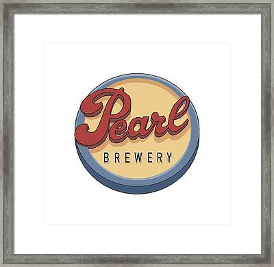Pearl Brewery Sign Framed Print