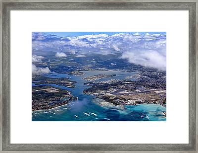Pearl Harbor Aerial View Framed Print