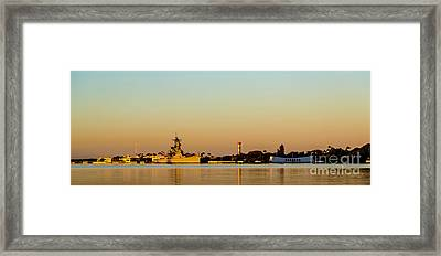 Pearl Harbor Dawn Framed Print