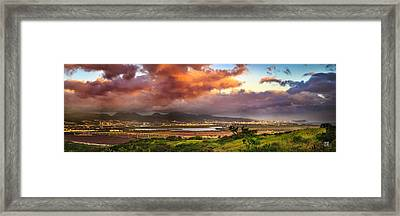 Pearl Harbor Sunset Framed Print