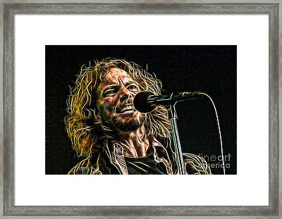 Pearl Jam Eddie Vedder Collection Framed Print by Marvin Blaine