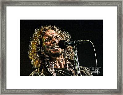 Pearl Jam Eddie Vedder Collection Framed Print by Marvin Blaine