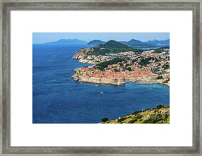 Pearl Of The Adriatic, Dubrovnik, Known As Kings Landing In Game Of Thrones, Dubrovnik, Croatia Framed Print