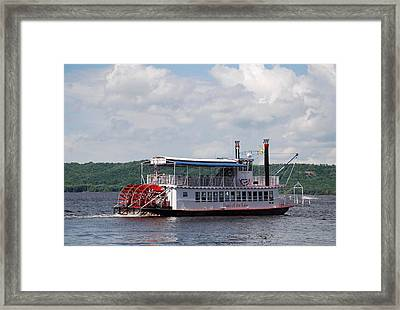 Pearl Off Marina Point Framed Print by Larry Nielson