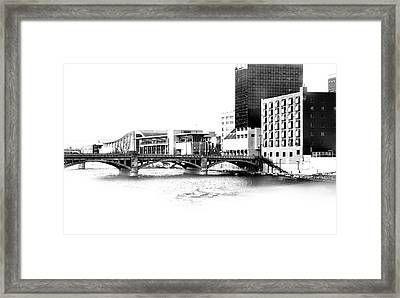 Pearl Street And Devos Framed Print by Evie Carrier
