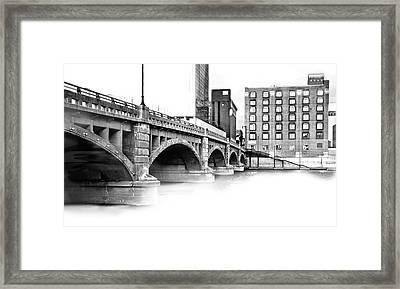 Pearl Street Bridge High Key Framed Print by Evie Carrier