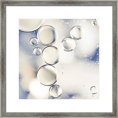 Pearlescent Water Droplets Framed Print