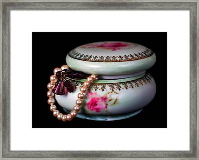 Pearls And Beads Framed Print by June Marie Sobrito