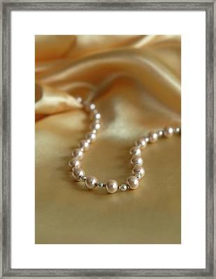 Pearls And Gold Framed Print by Jaroslaw Blaminsky