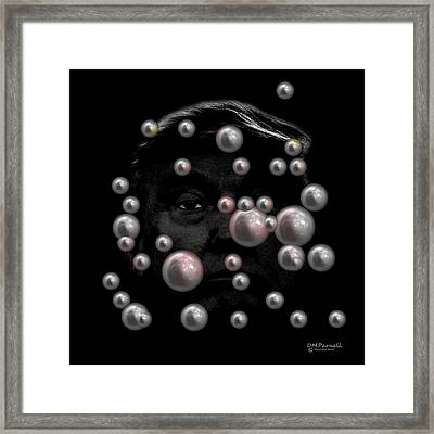 Pearls Before Framed Print by Diane Parnell