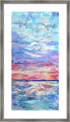 Pearly Sunset Framed Print