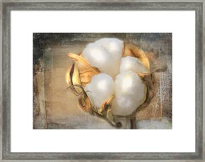 Pearly White Framed Print