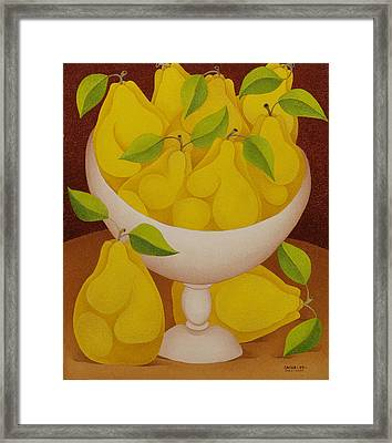 Pears   2007 Framed Print by S A C H A -  Circulism Technique