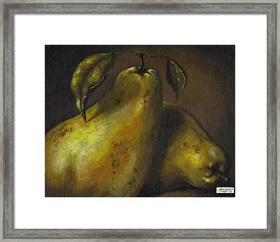 Pears Framed Print by Adam Zebediah Joseph