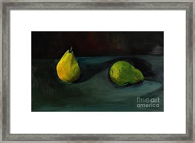Pears Apart Framed Print