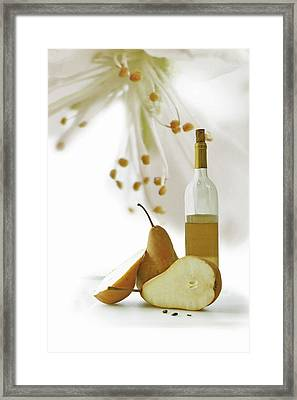 Pears Blossom Framed Print by Ann Lauwers