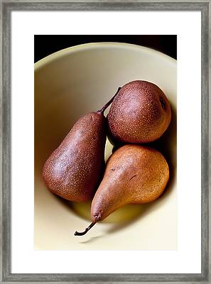 Pears In A Bowl Framed Print