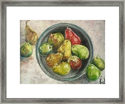 Pears In Bowl Framed Print by Carol P Kingsley