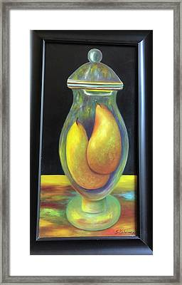 Pears In Ginger Jar.  Sold Framed Print