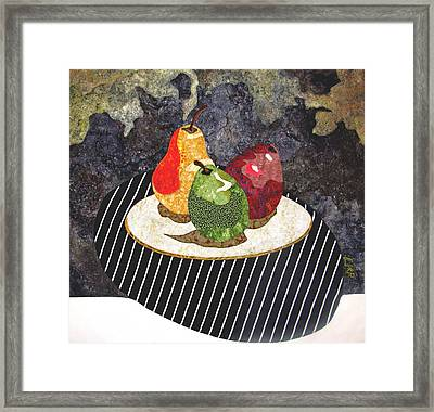 Pears Framed Print by Lynda K Boardman