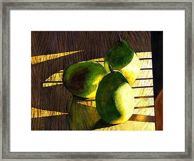Pears No 3 Framed Print by Catherine G McElroy