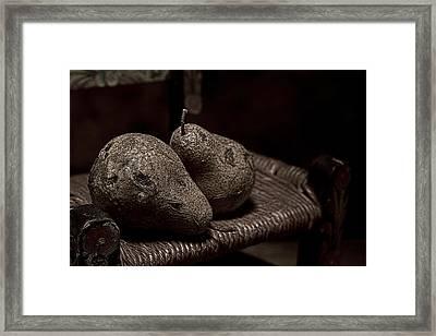 Pears On A Chair I Framed Print by Tom Mc Nemar