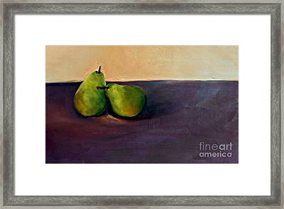 Pears One On One Framed Print