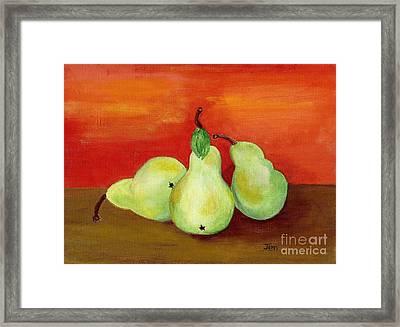 Pears Still Life Framed Print by Ann Gordon