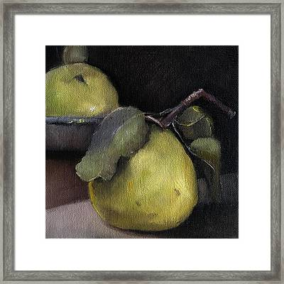 Pears Stilllife Painting Framed Print