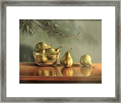 Pears Framed Print by William Albanese Sr