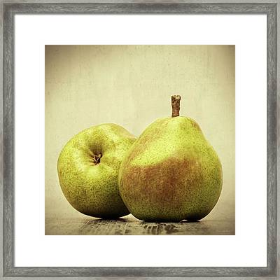 Pears Framed Print by Wim Lanclus